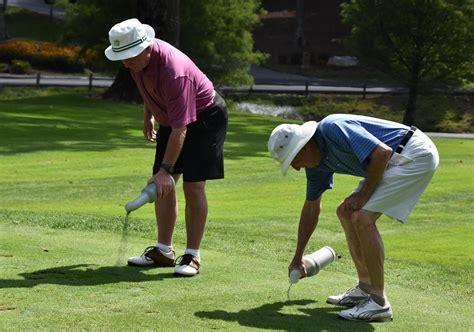 golf swing divot after ball highlands falls country club golf course maintenance