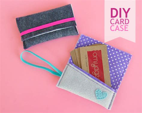 how to make business card holder diy business card oh my handmade