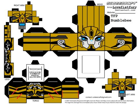 How To Make A Paper Transformer Bumblebee - transformers prime bee cubee part 1 by lovefistfury on