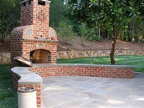 Outdoor Brick Fireplace Designs by Standout Outdoor Brick Fireplaces Delectable Decorative Detailing