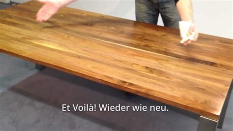 Wurzelholz Lackieren Anleitung by Holzpflege Massivholztisch Make It Self