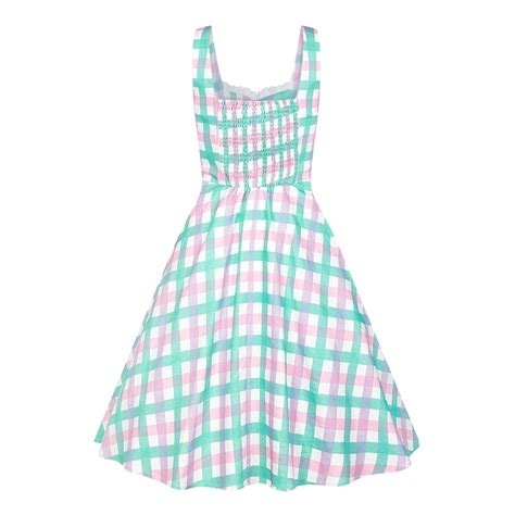 gingham swing dress collectif mainline chloe candy gingham swing dress