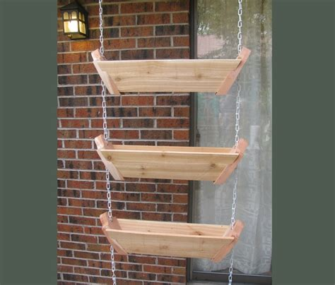 Balcony Hanging Planter by 3 Tiered Hanging Patio Planter Balcony