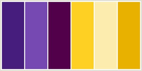 colors that go with purple colorcombo280 with hex colors 461d7c 7549b1 53004b fdd023 fcecae e9b200