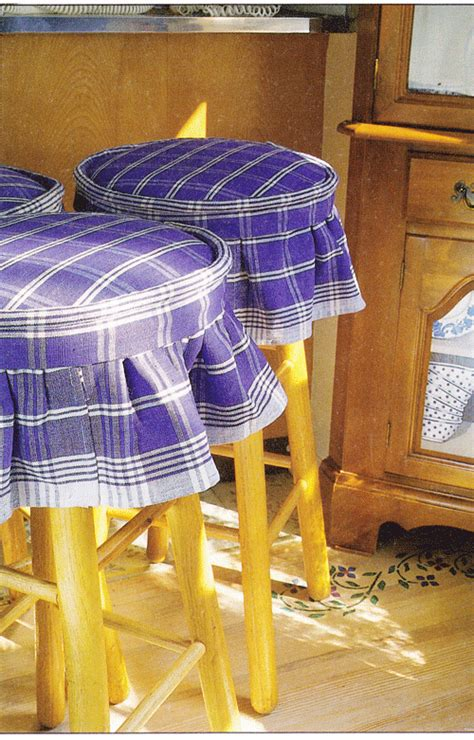 Fabric Stool Covers by How To Make No Sew Kitchen Stool Covers In Own Style