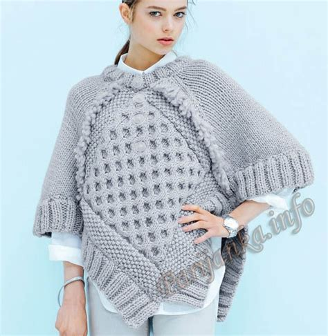 jersey poncho pattern 403 best images about ponchos dos agujas on pinterest