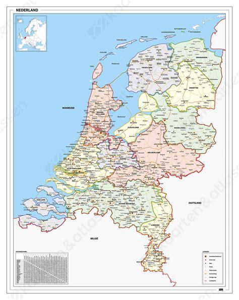 Or Nederland Frisse Landkaart Nederland 830 Kaarten En Atlassen Nl