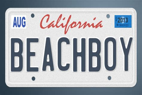 create an awesome california vanity license plate fiverr