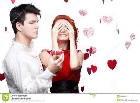 valentines day for new couples smiling on valentines day stock image image