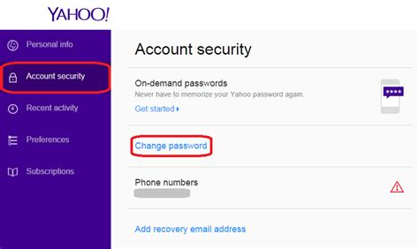 email yahoo change password what should i do if my yahoo account was hacked
