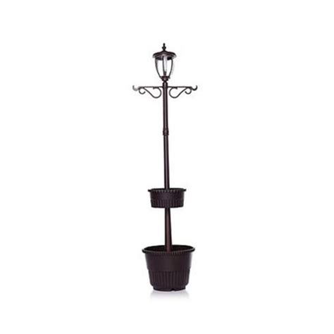 solar l post with planter base special value pricing on hgtv home solar powered l post