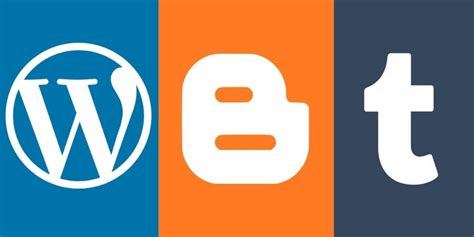 blogger vs tumblr wordpress versus compare wp with other platforms