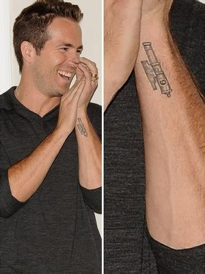 ryan reynolds tattoo tattoos