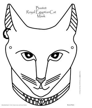 printable egyptian mask bastet ancient egyptian cat mask ancient egypt crafts