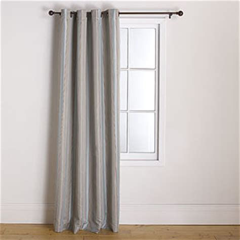 taupe striped curtains imperial striped grommet curtain blue taupe eclectic