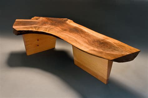 custom wood benches walnut bench custom hardwood furniture design seth rolland