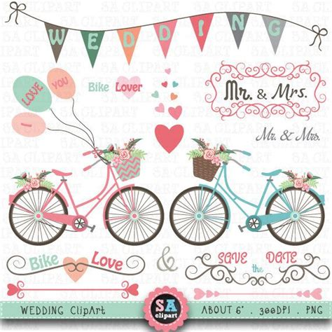 Wedding Clip Part wedding bike clipart quot wedding clip quot pack vintage