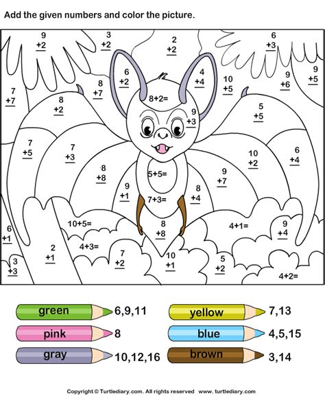 Free Coloring Pages Addition Coloring Pages