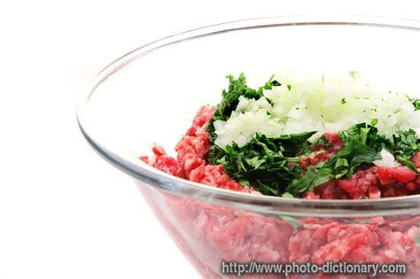 Definition Mince by Minced Photo Picture Definition At Photo Dictionary