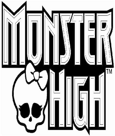 monster high logo coloring pages free printable coloring pages for girls