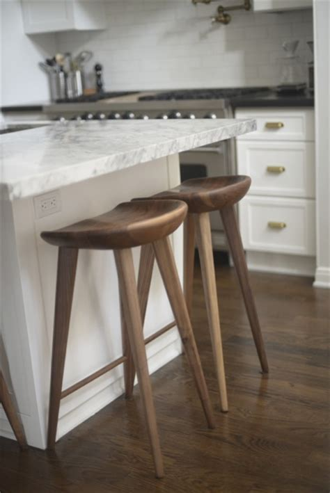 bar stools for kitchen island white granite counters transitional kitchen