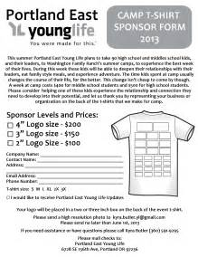 become a t shirt sponsor