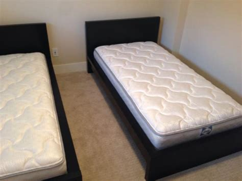 malm twin bed two new condition ikea malm twin beds victoria city victoria