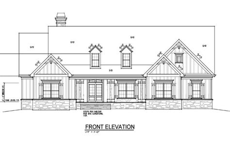 one or two story craftsman house plan farmhouse front