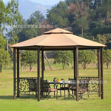 gazebo furniture villa garden patio outdoor gazebo cafe estate hexagonal