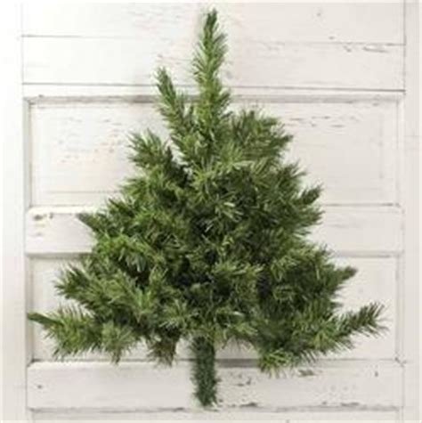 wall mounted half artificial pine tree wall decor home