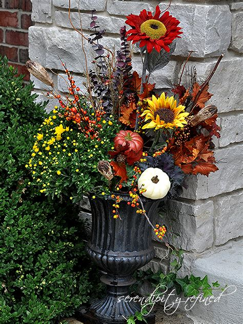 Fall Planter Ideas by Serendipity Refined Fall Planters And Urns What I