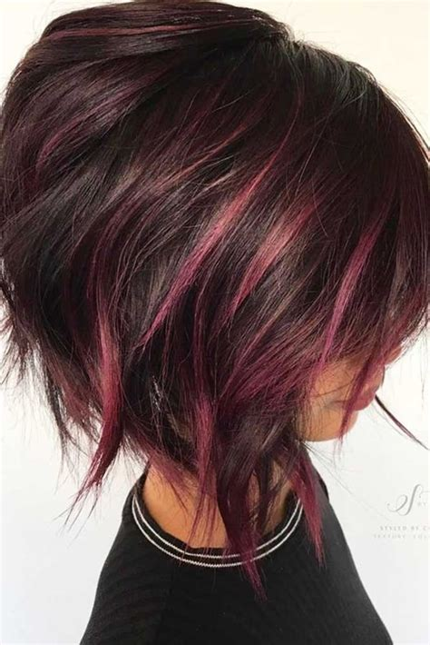 short stacked haircuts red highlights 61 charming stacked bob hairstyles that will brighten your day