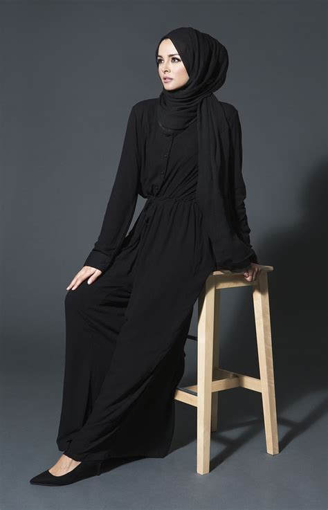 Jumpsuit Muslim jumpsuit black aab clothes islamic