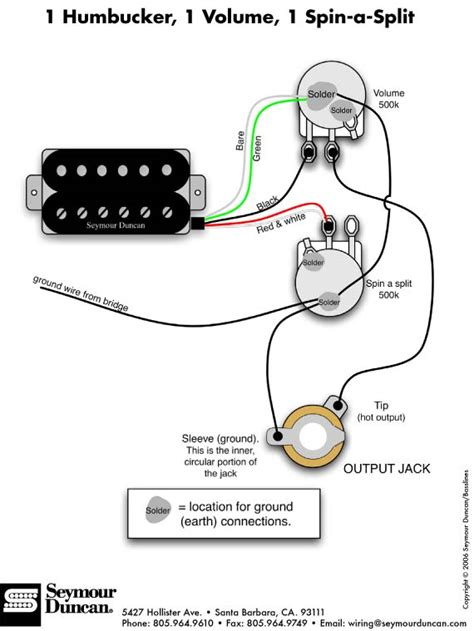 guitar wiring diagram one humbucker efcaviation