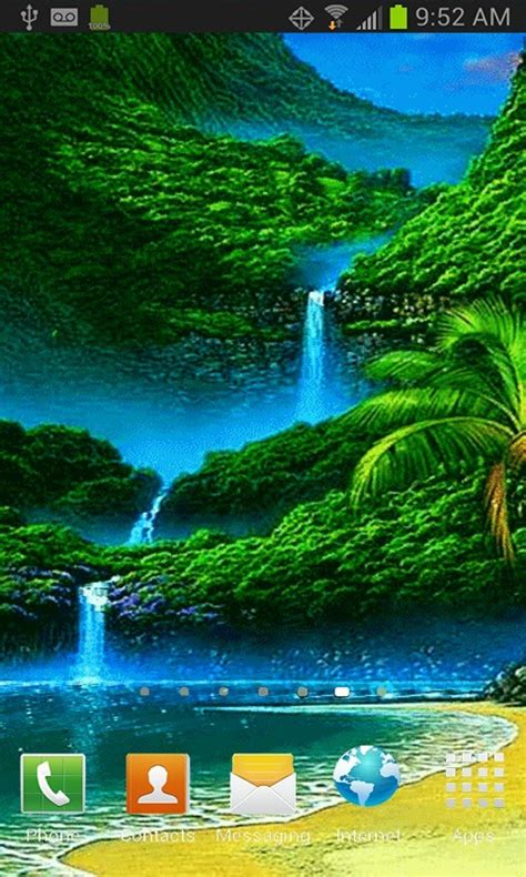green nature live wallpaper free android live wallpaper