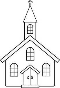 church coloring pages church line free clip
