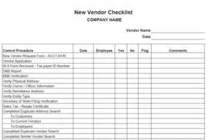 new vendor template procedures for small business checklist