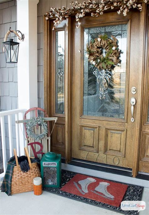 winter porch decorating ideas cozy winter decorating ideas for the front porch