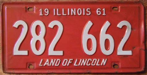 Vanity Plates In Illinois by File Illinois 1961 License Plate 282 662 Flickr