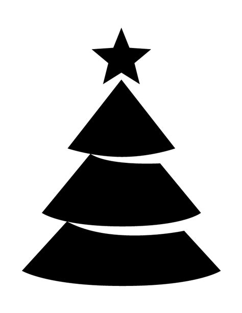 christmas tree with star topper silhouette h m