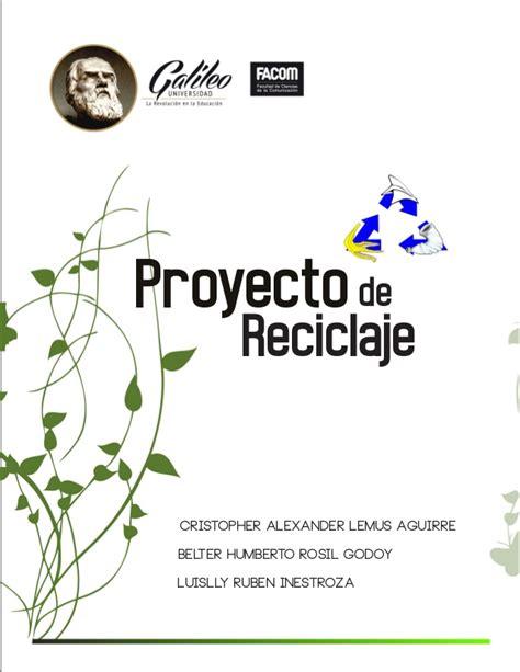 gaby mi ensayo de reciclaje proyecto reciclaje