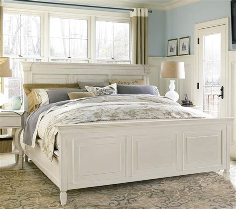 country bed frame country chic white king panel bed frame zin home