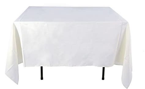 cheap white table cloth cheap tablecloths white polyester cover 85 x 85