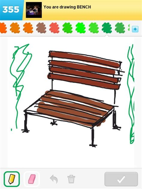 drawing benches bench drawings how to draw bench in draw something the
