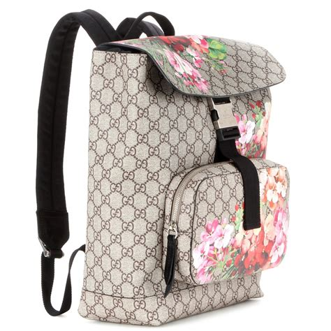 canvas printed backpack lyst gucci gg blooms printed canvas backpack
