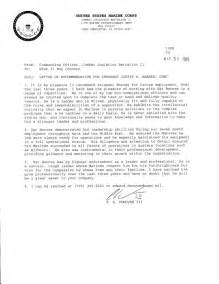 Endorsement Letter Navy Letter Of Recommendation