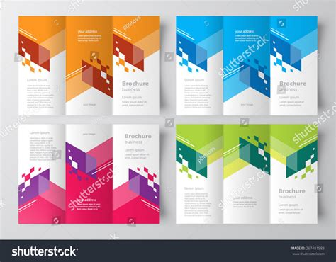 brochure design with trifold colorful template brochure design template tri fold color stripes abstract