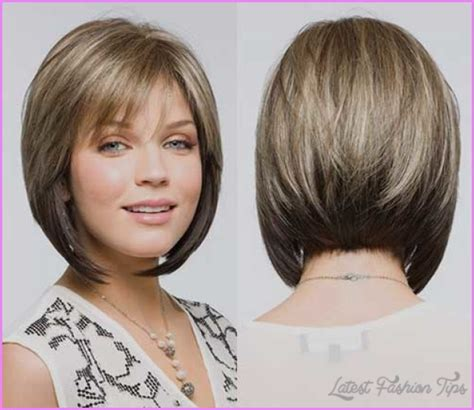 long bob angled hairstyles graduated layers angled layered bob haircut latestfashiontips com