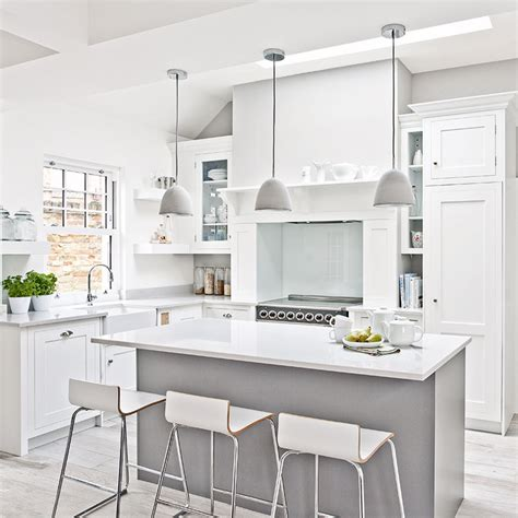 white kitchen ideas  sensational schemes