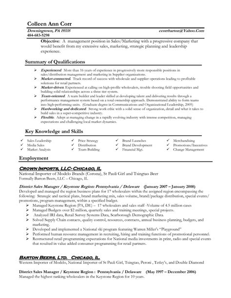 exles of resumes for management sles of resumes